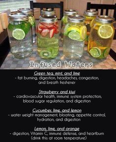 Naturally flavored water (water recipes for weight loss) Healthy Water, Healthy Detox, Healthy Smoothies, Healthy Drinks, Smoothie Recipes, Healthy Snacks, Healthy Eating, Cleanse Recipes, Easy Detox