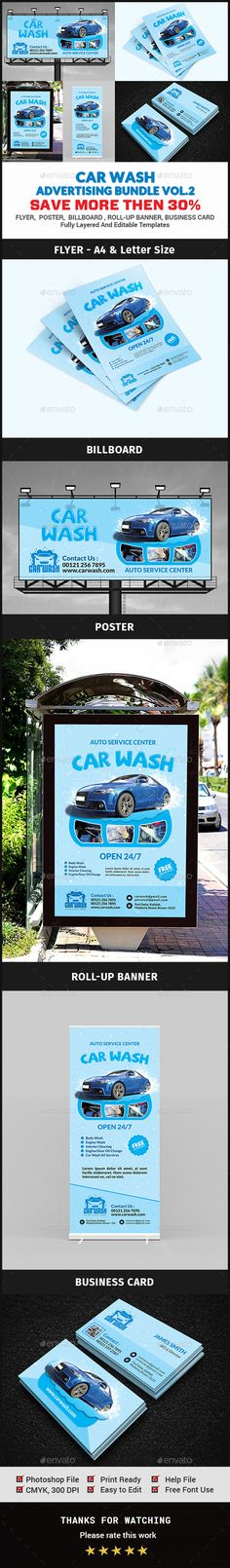 Car Wash Advertising Vol.2 Bundle