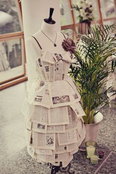 Image result for ala garments made of book pages