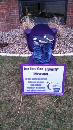 Relay for Life Purple Potty Fundraiser
