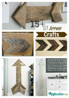 How to make arrow crafts. so many cute ideas!