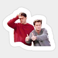 Shop Friends Chandler y Joey - Okay friends tv stickers designed by Rosbel as well as other friends tv merchandise at TeePublic. Cute Laptop Stickers, Bubble Stickers, Meme Stickers, Snapchat Stickers, Phone Stickers, Cool Stickers, Printable Stickers, Mac Book, Friends Tv Show