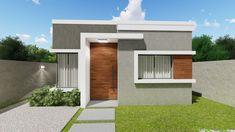 Small House Exteriors, Modern House Facades, Modern Bungalow House, Modern Exterior House Designs, House Paint Exterior, Dream House Exterior, Dream House Plans, Minimal House Design, Modern Small House Design