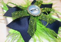 Seahawks Game Day Bowtique Bow by HodgePodgeBowtique on Etsy, $15.00