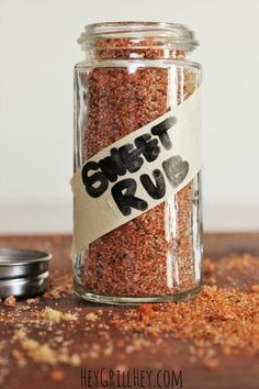 The BEST Sweet Rub for Grilled Pork and Chicken Homemade Sweet Rub. Amazing on grilled chicken, pork, shrimp, etc. Homemade Spices, Homemade Seasonings, Homemade Sweets, Homemade Bbq, Spice Rub, Spice Mixes, Spice Blends, Dry Rub Recipes, Meat Rubs