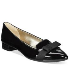 Anne Klein Kyrena Pointed Toe Flats    macys.com