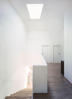 Stairwell. Wohnbau St. Lorenzen by Nussmüller Architekten.