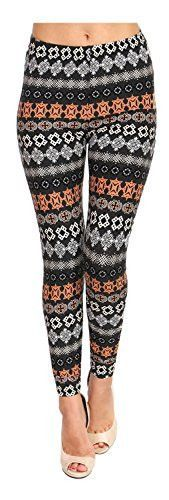 VIV Collection Women's Stripe Tribal Aztec Navajo Chevron Spring Floral Leggings