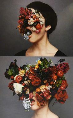Flower Head Mask