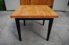 These custom tables and kitchen islands are made from reclaimed bowling alley lanes and are solid Maple, 2 1/2 thick butcher block style,