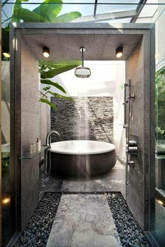 Bathroom, Home Decoration katalay.net/home-decoration/ #bathroom #homedecor #homedecoration Modern House Design, Modern Interior Design, Small Bathroom, Master Bathroom, Bathroom Layout, Asian Bathroom, Master Baths, Bathroom Black, Bathroom Vanities