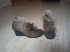 """Обувь ручной работы. Ярмарка Мастеров - ручная работа. Купить Ботильоны """"BELLISSIMA"""". Handmade. Валенки, валенки на подошве, ботильоны"""