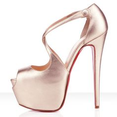 Christian Louboutin Exagona 160mm Leather Sandals Platine -$165