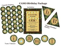 Camo themed party pack