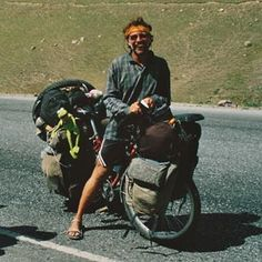 Adventure Cycling Guide example of a heavily loaded expedition Bike