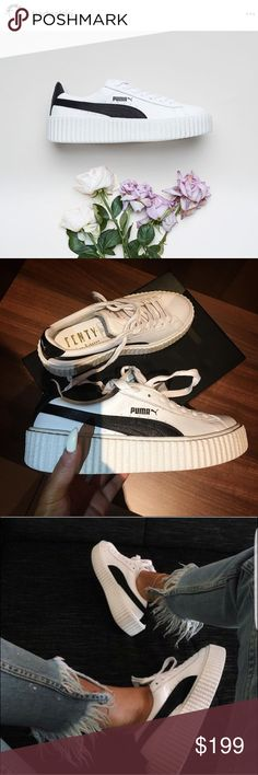 Rihanna Fenty Puma Creepers Black and White 8.5 Authentic!! Please see pics for receipt proof  I accept all reasonable offers**  I'm selling because I bought the wrong size. I'm a US 6, but I bought a UK 6 which converts to a US 8.6 Way too big for me...  I'm also selling the creeper in all black size US 6.5.. please see my other auctions. Puma Shoes Sneakers