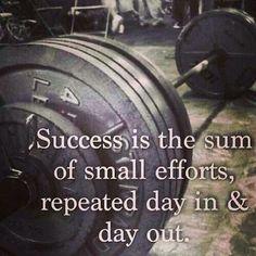 A little bit each day.