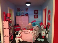 American girl diy bedroom. Follow my dolls house ideas on pinterest for more inspiration