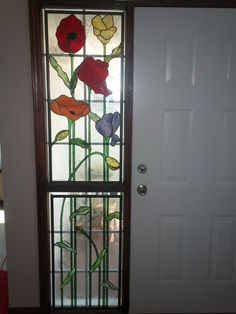 stained glass sidelight by| Rhonda's Stained Glass, Calgary, Alberta