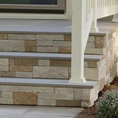 For a dramatic addition to your exterior, consider installing stone veneer to columns, posts, foundations or stairs. Don't be intimidated by the installations. There are now specially designed panels that are easy to mount with screws or adhesive, bringing the high-end look of stone to any DIYer.