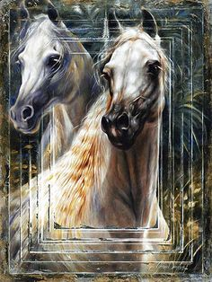 Within the Wind Arabian Horse Oil painting by Janice Darr Cua.
