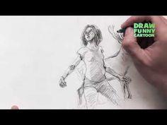 draw reindeer behind alita - YouTube