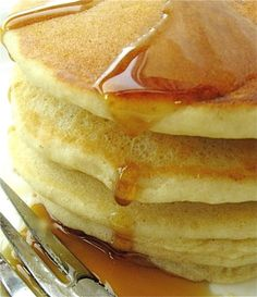 Gluten Free Vegan Pancakes:  Just sub almond milk for the butter milk, vegan butter or canola oil for the butter, and egg replacer for the eggs..  I have tried this recipe with all the above substitutes and it tastes great!