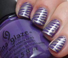 Purple and Gold Zebra