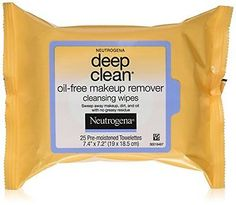 Neutrogena Deep Clean Makeup Removers, Makeup Remover Cleansing Wipes, 25-Cou...