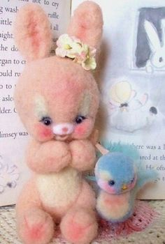 Spring Bunny and Blue Bird