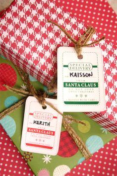 Printable Santa tags