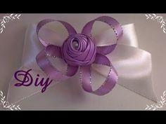 Rosinha de fita de cetim enrolada com pérola DIY \ Rosie's rolled satin ribbon with pearl DIY - YouTube