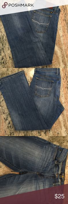 Lucky Brand Jeans Lucky Easy Rider Jeans. Good condition.  Size 33 or 16 Lucky Brand Jeans Ankle & Cropped