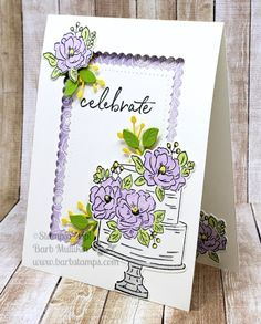 Stampin' Up! happy birthday to you, SAB 2020 Birthday Cake Card, Homemade Birthday Cards, Happy Birthday Cakes, Homemade Cards, Wedding Anniversary Cards, Happy Anniversary, Wedding Cards, Stamping Up Cards, Flower Cards