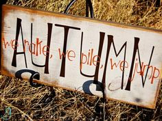 Autumn: We rake, we pile, we jump