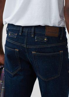 Jeans steve slim-fit lavagem escura | MANGO MAN