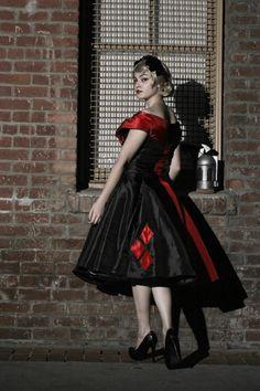Art of Egle - Harley Quinn Vintage Vogue Dress / Gotham Noir Line