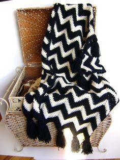 Black & White Chevron Baby Blanket