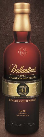 Ballantine's 2012 Championship Blend very rare 41 year old whisky.