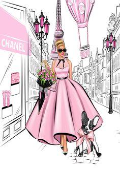 Fashion Wall Art, Fashion Painting, Fashion Prints, Fashion Design, Image Girly, Art Sur Toile, Illustration Mode, Illustrations, Glamour Decor