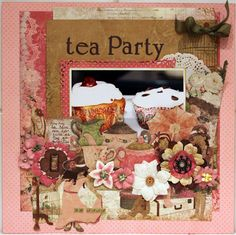 TEA PARTY *** Bo Bunny - Little Miss Collection