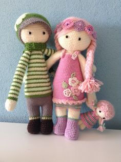 boy & girl mod made by Jessica Z. / based on lalylala crochet patterns