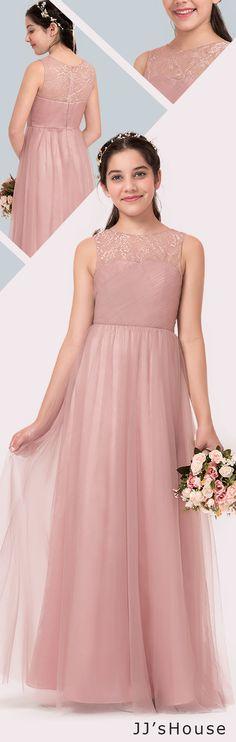 This A-line junior bridesmaid dress is so amazing!  #JJsHouse #Junior #Bridesmaid