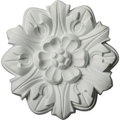 """7 5/8""""OD x 1""""P Emery Leaf Ceiling Medallion - 6.75 For staircase"""
