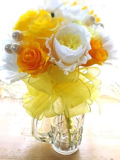 wedding  crepe paper flowers  crepe paper bouquet クレープペーパー