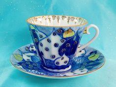 Vintage Russian Russia LFZ Lomonosov Factory Porcelain Tea Cup and Plate Set | eBay