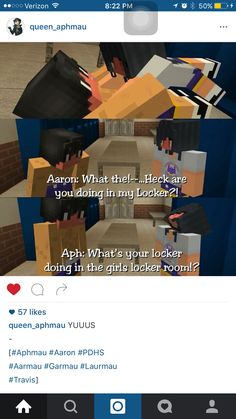 No Aphmau your in the boys locker room!! But still stay on top of him!