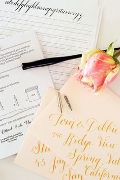 The Lettered Bride a DIY Calligraphy Kit for the by AshleyLurcott