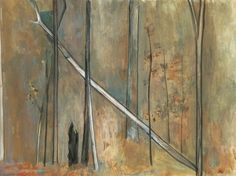 Fallen tree, 1962, Fred Williams, Watercolour on paper, 37.5x 49 cm, Art Gallery of NSW