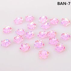 New 2014 20pcs 3D 1cm Nail Art Resin Acrylic Rose Flower Slices UV Gel DIY Nail Decal Decorations, 3 Styles To Options